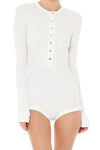 Baby White Button Romper