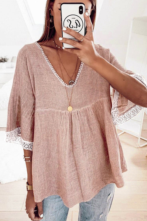 Easy To See Breezy Lace Half Sleeve Top - 2 Colors