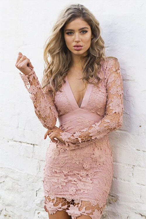 Lace Backless Bowknot Dress