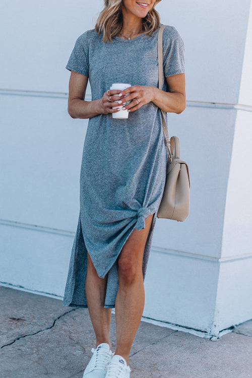 Sweet as Ever Short Sleeve Bowknot Midi Dress