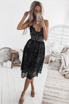 Take Me Out Tonight Lace Midi Dress - 2 Colors