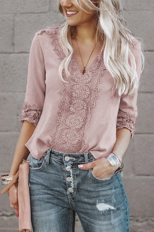 Grow With Me Lace Half Sleeves Top - 2 Colors