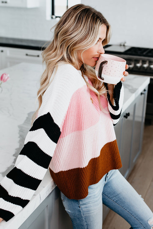 Good Vibes Multi Striped Knit Sweater - 2 Colors