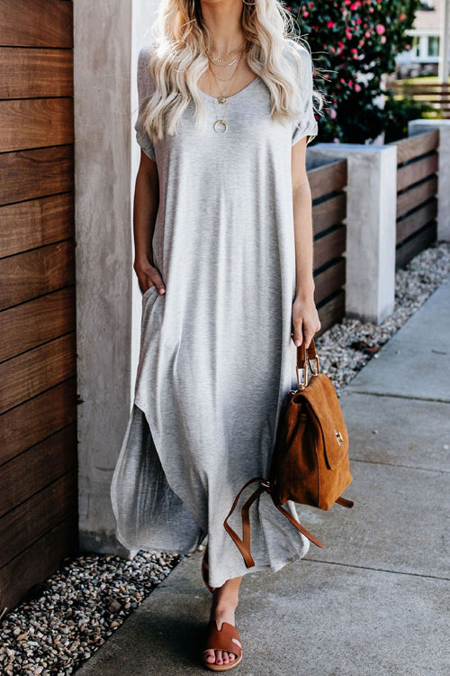 Sweet as Ever V-neck Bowknot Maxi Dress