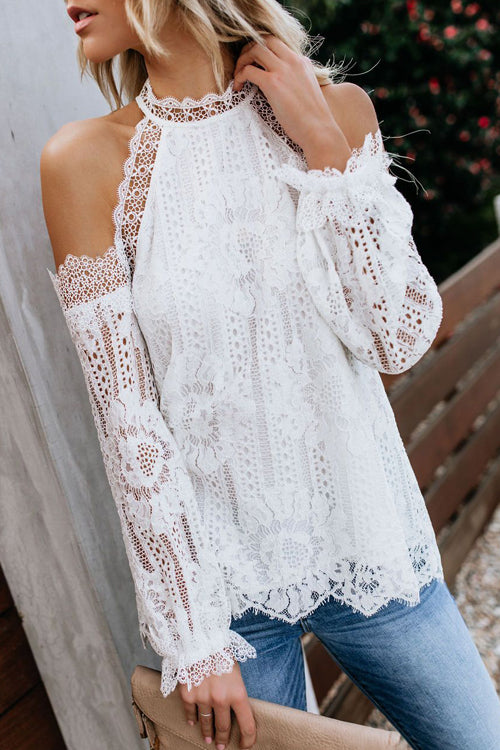 Bali Daydream Lace Cold Shoulder Top