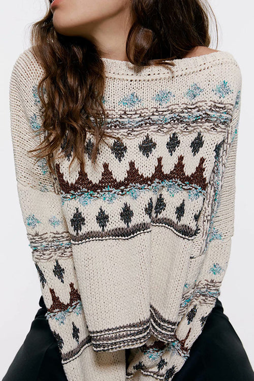After All Vintage Snowflake Knit Sweater