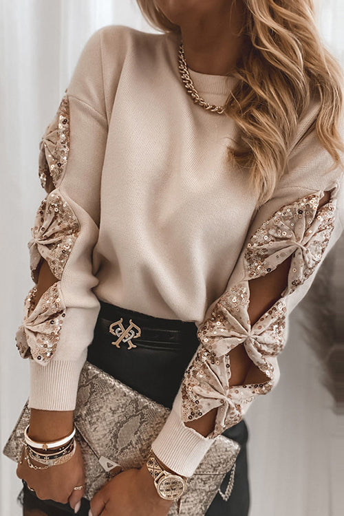Chic And Cozy Sequin Long Sleeve Sweater - 3 Colors