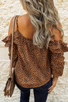 Sweet Spot Cold Shoulder Ruffle Up Top