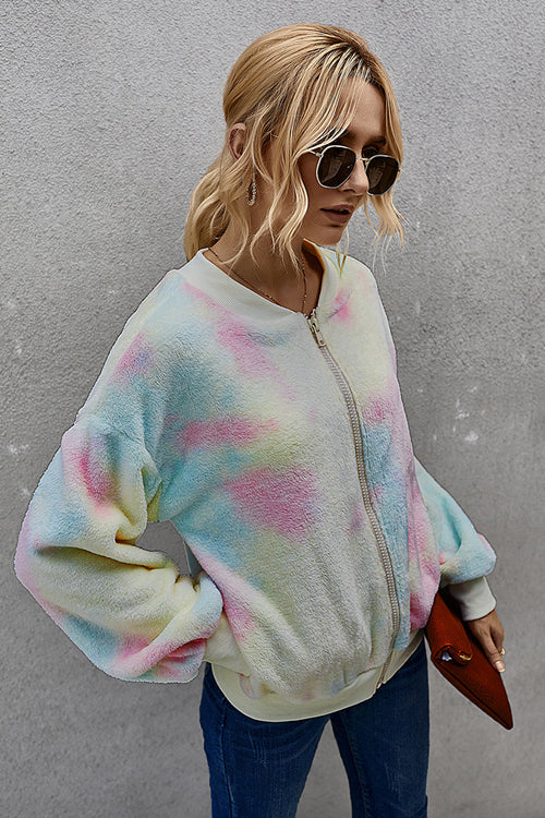 Ready For Fall Tie-Dye Fluffy Jacket - 4 Colors
