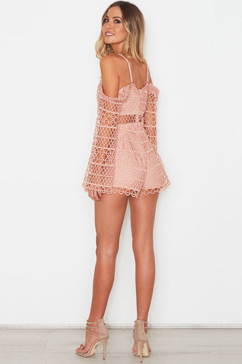 V-neck Hollow-out Romper