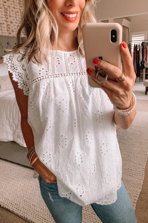 Heart Of Happiness Lace Tank Top