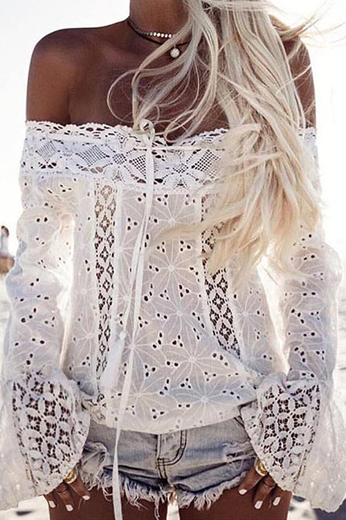 Lace Long Sleeve Homestead Top