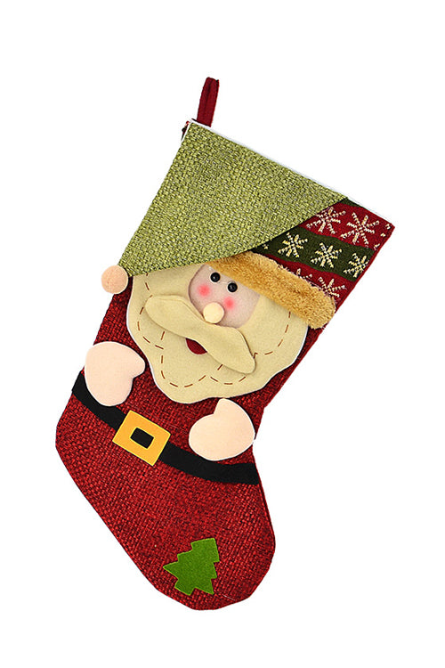 Linen Christmas Candy Bag Socks