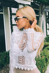 Lace See-through Blouse