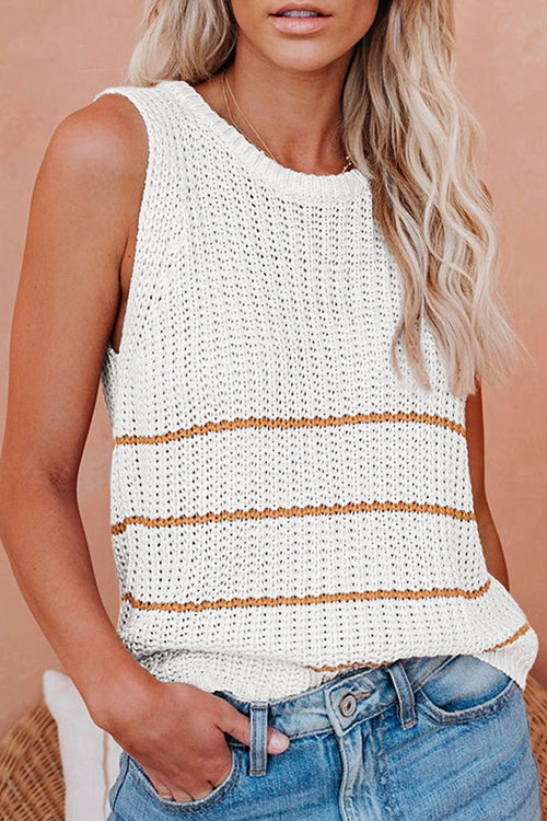 Stripe This Way Knit Tank Top - 3 Colors