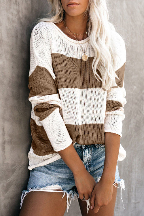 In My Arms Striped Knit Sweater - 2 Colors