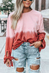 Amazing Memories Striped Rainbow Slit Sweater