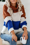 Call Me Cozy High-Neck Striped Knit Sweater