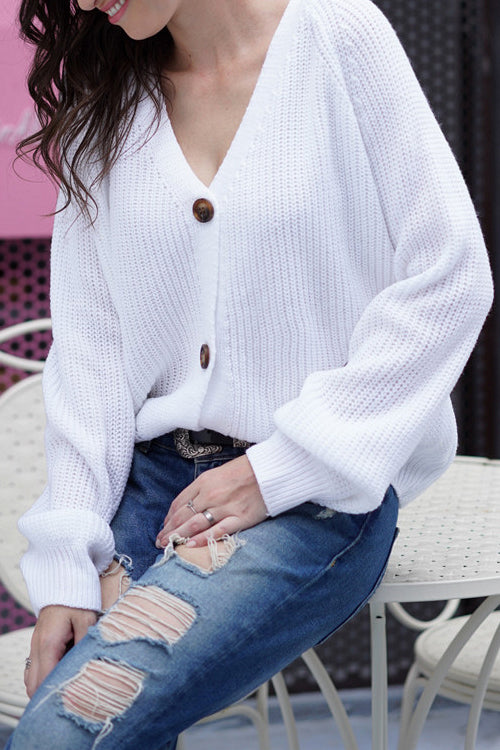 Hug it Out Button-Up Knit Cardigan - 3 Colors