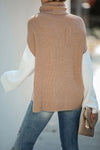 Freethinker Oversized Turtleneck  Knit Sweater