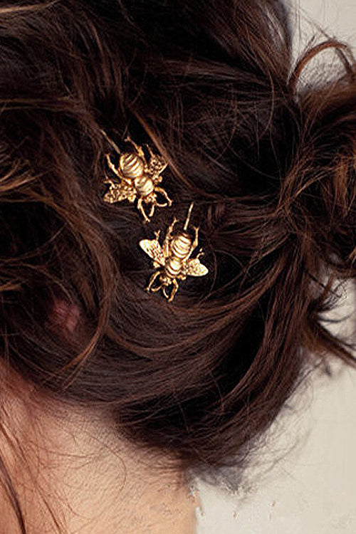 Golden Bee Hairpin