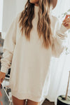 Autumn Daze High-Neck Long Sleeve Mini Dress