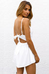 Lace Spaghetti Tie-back Romper - 4 Colors