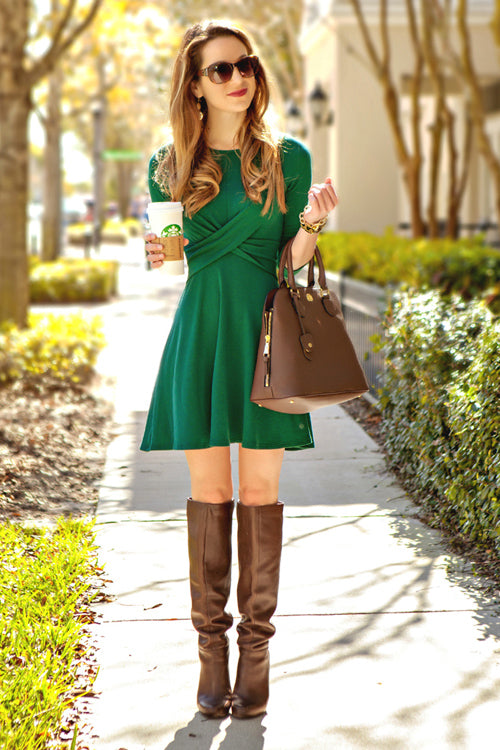 True Love Cross-front Mini Dress- 2 Colors