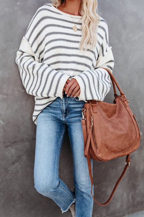Wonder And Delight Striped Knit Sweater