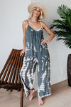 Make Moves Tie-dyed Spaghetti Jumpsuit