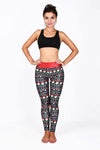Christmas Santa Print Yoga Pants