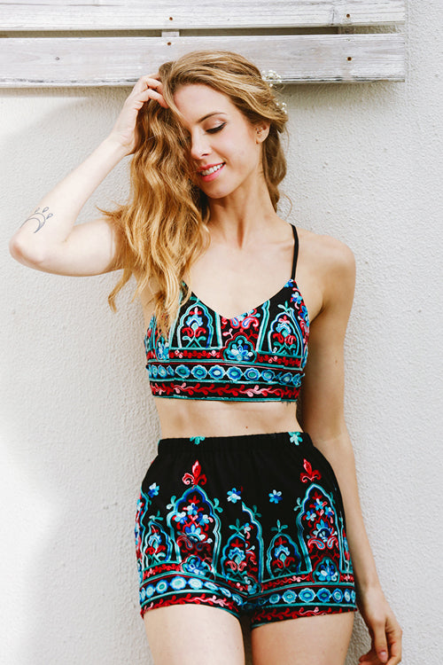 Copy of Boho Backless Print Suit