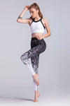Yoga Black Gradiant Leggings