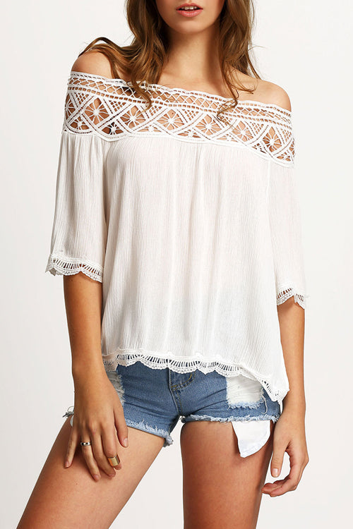 Sweet Memories Off the Shoulder Eyelet Top - 3 Colors