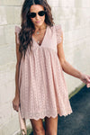 Glory of Love Pocket Pink Hollow-Out Dress - 3 Colors