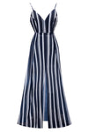 Backless Spaghetti Stripe Maxi Dress