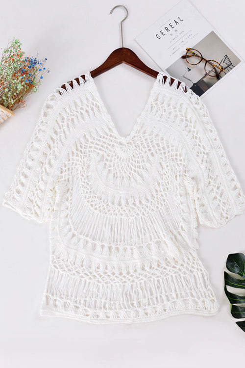 Flower Crochet Beach Blouse