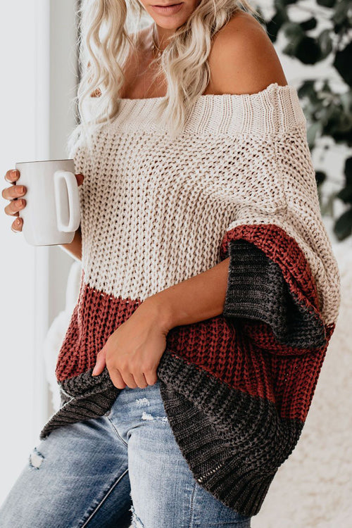 Warm You Up Striped Knit Sweater