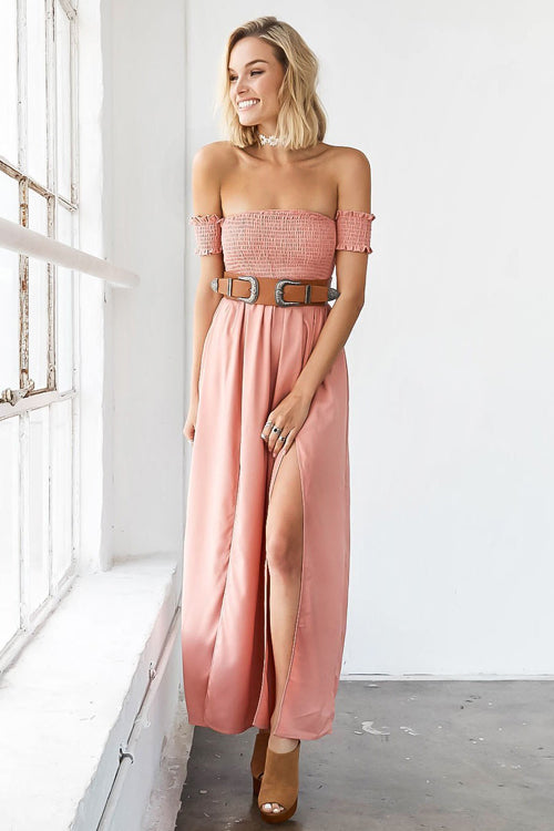 Cherry Blossom High-slit Dress