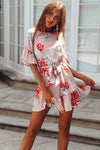 Print Ruffle Hem Mini Dress - 3 Colors