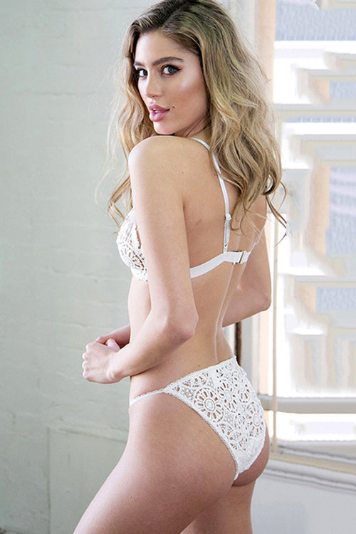 Lace Hollow-out Bra&Thong