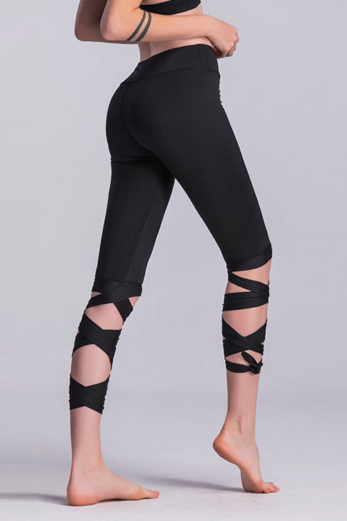 Yoga Tied Cross-leg Leggings