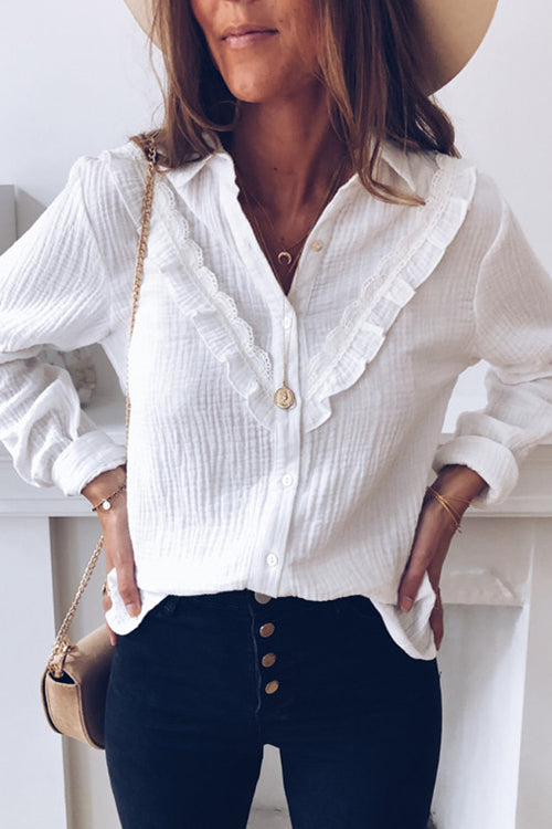 Crochet it With Love White Lace Shirt