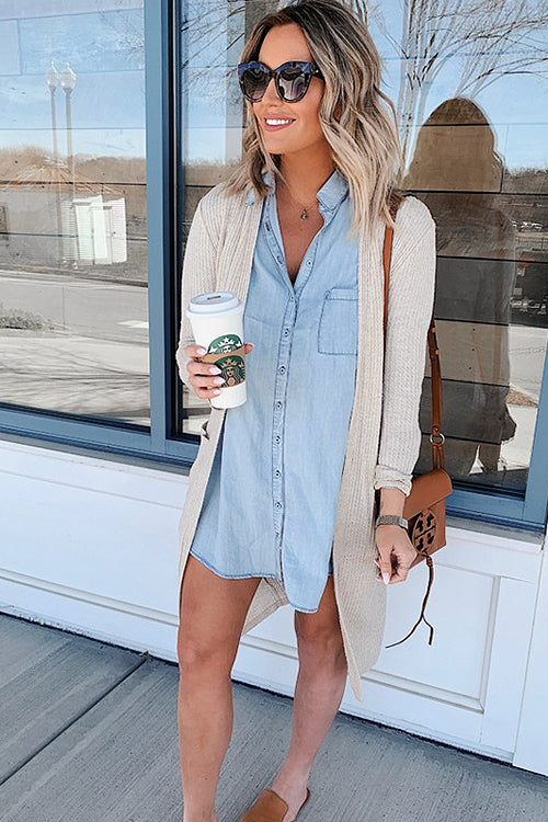 Forever and Always Denim Casual Mini Dress