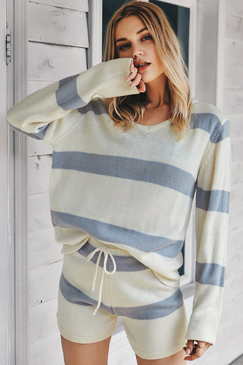 Need You Here Striped Knit Suit - 3 Colors