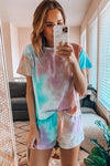 Pure Relaxation Short Sleeve Tie-Dye Suit - 2 Colors