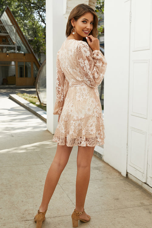 Awaken My Love Lace Embroidered Mini Dress