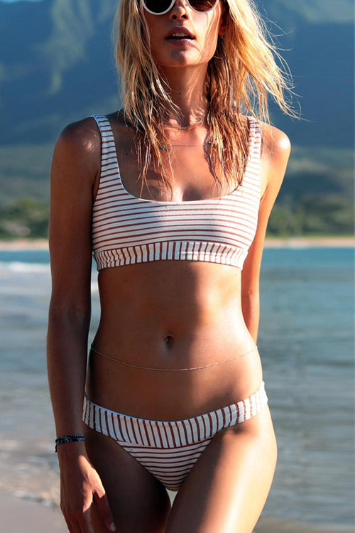 Stripe Separated Bikini