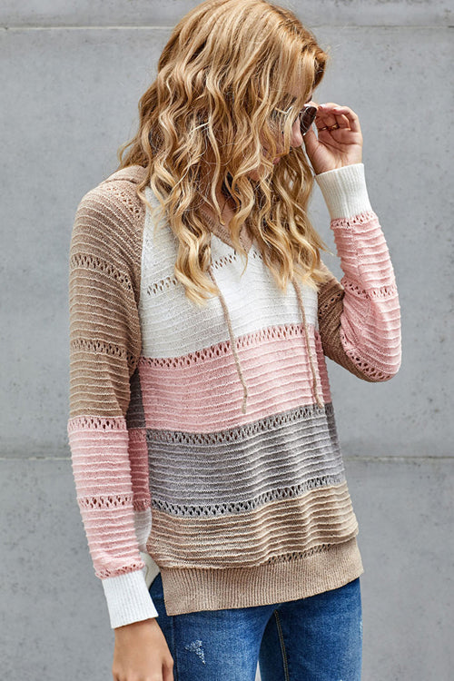 Cute And Cozy Striped Knit Sweater - 4 Colors