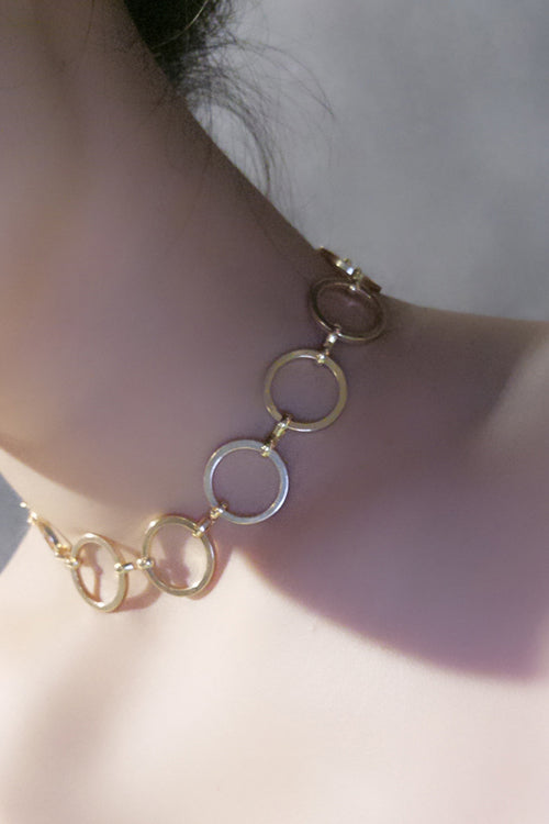 Metallic Ring Choker